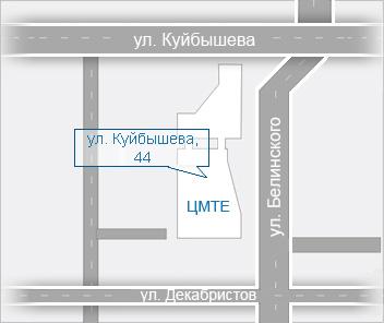 Схема проезда к месту проведения выставки